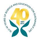 SLU 40 years logo